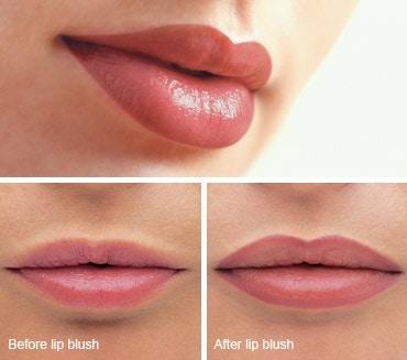 איפור קבוע שפתיים תיחום ומילוי