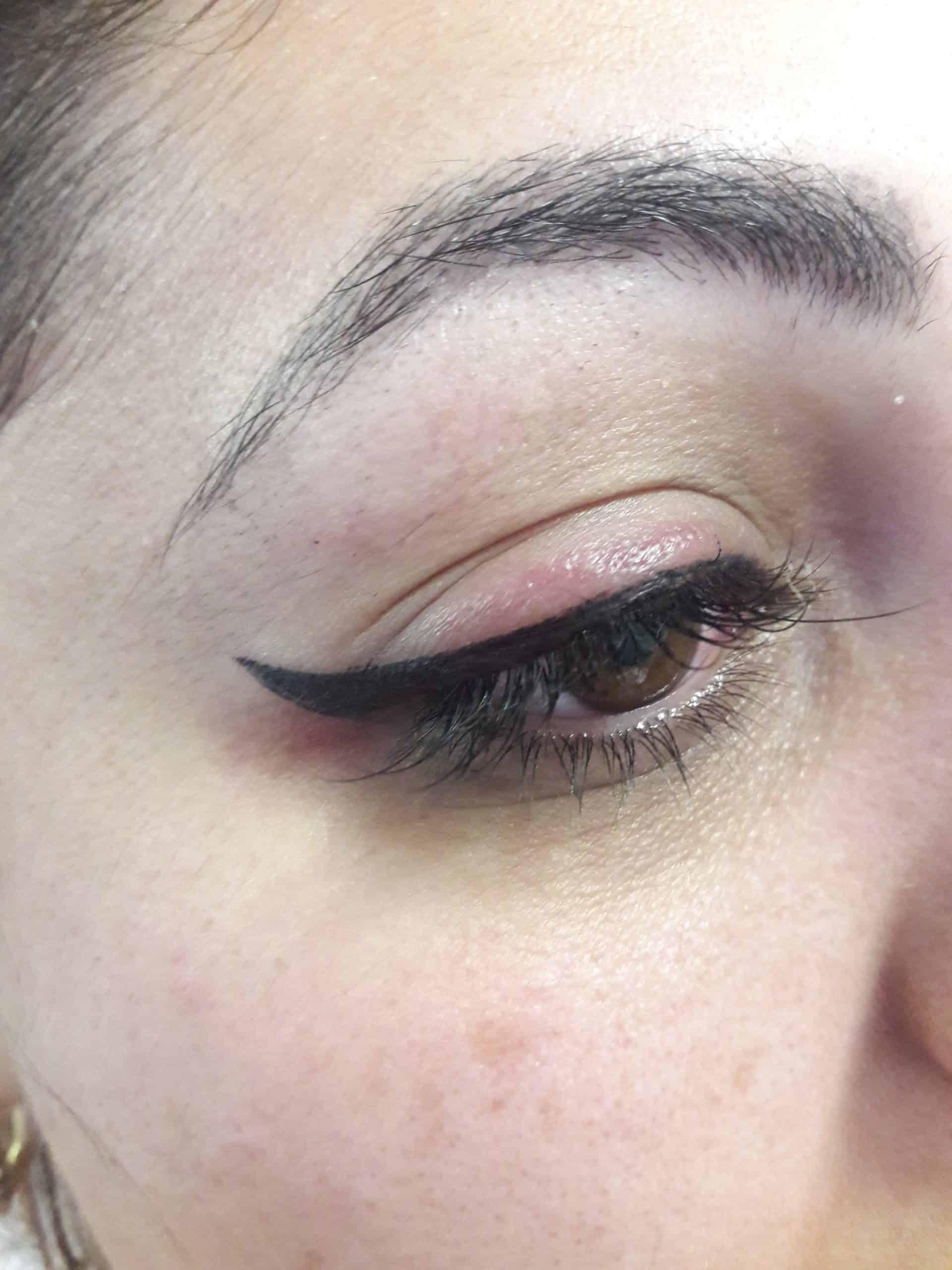 איפור קבוע עיניים, לפני ואחרי